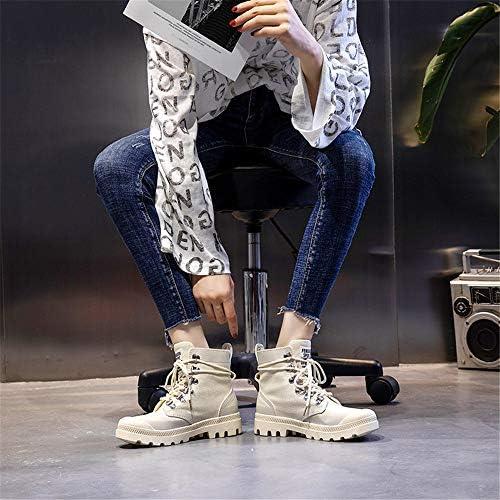 CCHM Stivali da Donna Stivaletti con Cravatta sul Retro,Beige,40