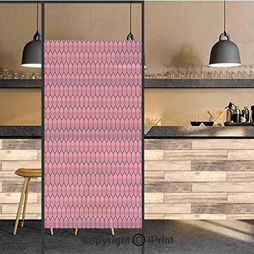 - 3D Decorative Privacy Window Films,Honeycomb Pattern Nature Inspired Design with Monochrome Color Scheme Print Decorative,No-Glue Self Static Cling Glass Film for Home Bedroom Bathroom Kitchen Office