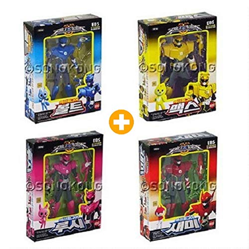 MINI FORCE Bolt+Max+Semi+Lucy Set of 4 Korean Robot Action Figures Sonokong miniforce