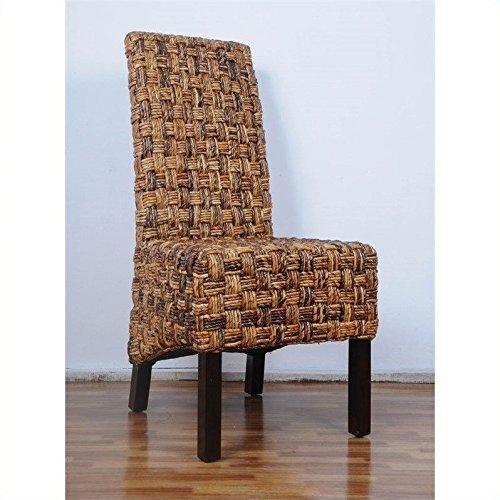 International Caravan SG-3309-1CH-IC Furniture Piece Victor Woven Abaca Dining - Dining Chair Bali