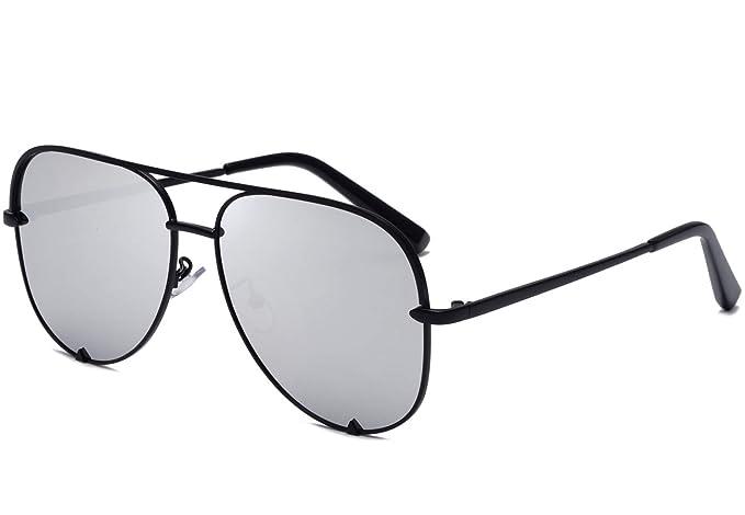 Amazon.com: Eyerno - Gafas de sol de aviador con espejo ...