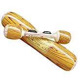 Convinced Swimming Ring Summer Outdoor Beach Pool Inflatable Double Beat Swim Log Stick (Gold)