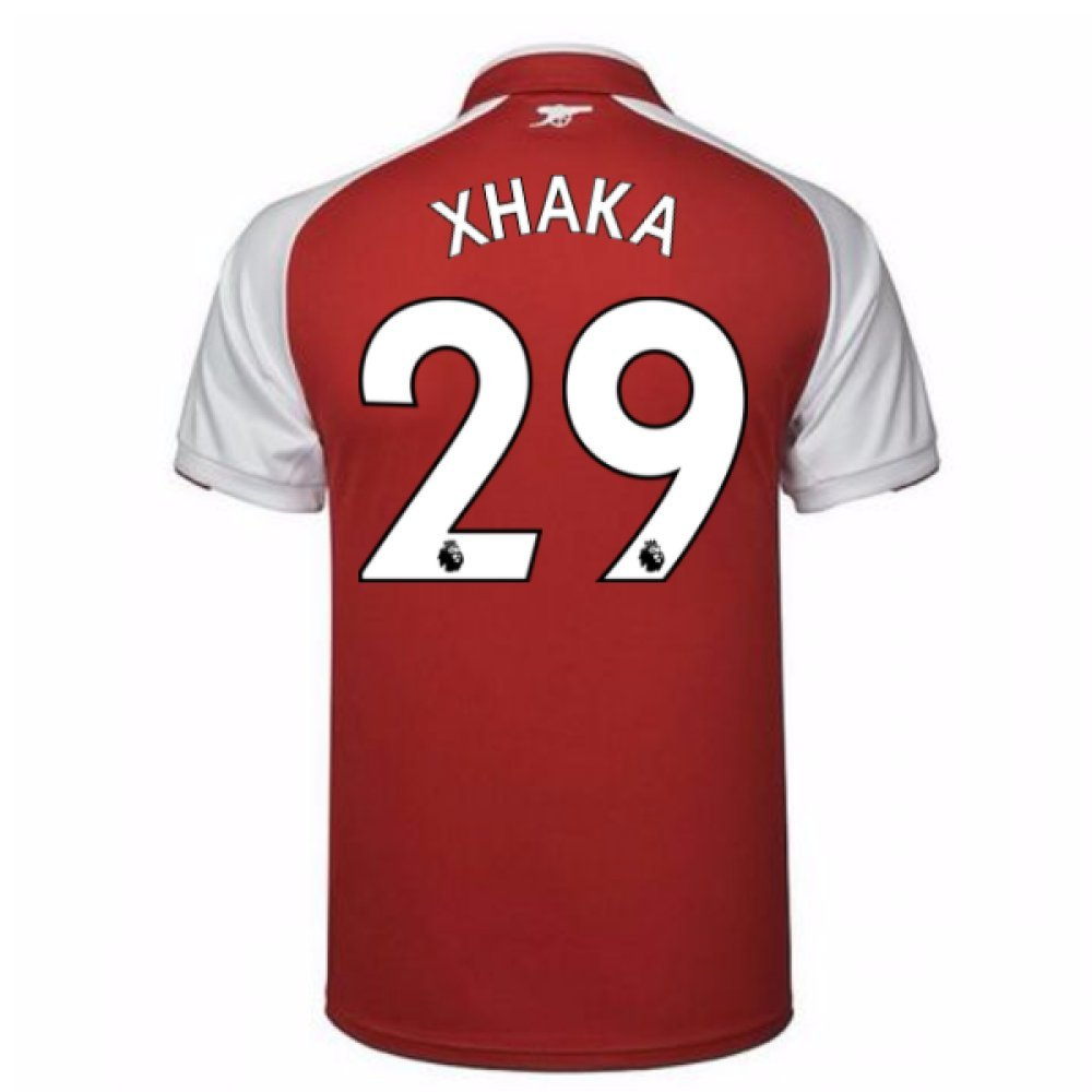2017-18 Arsenal Home Football Soccer T-Shirt Trikot (Granit Xhaka 29)