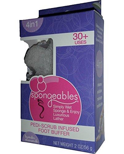 Spongeables 30+ Uses Pedi Scrub Infused Foot Buffer w/ La...