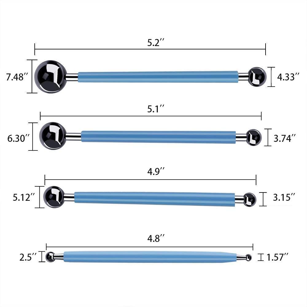 1/vassoio di vernice e pennelli 9/pezzi dotter a doppia,3 di cui 5/stile mandala stencil 8/bastoncini y-step 26/pezzi mandala Rock dotting Tools set di strumenti di pittura