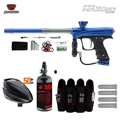 Proto Rize MaXXed Paintball Gun w/ Tank + Dye Rotor Hopper &...