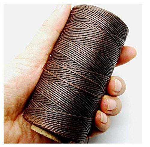 Hilai 284YRD profondo marrone cuoio cucito filo cerato 1mm 150D Leather Hand Stitching 125g