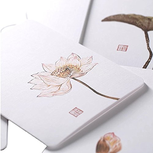 - Featuring Hand-Drawn Thank You Card: Assorted Blank All-Occasion Note Cards (Flowers and Birds Series-Larger Size)