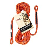 #8: GM CLIMBING 8mm (5/16) 30 feet/9.2 meter Rope with Sewn Eyes in both ends/one end Pre-Sewn