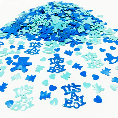 Gender Reveal Party Supplies Blue Confetti Sprinkles for Funny Baby Shower Party Decoration-