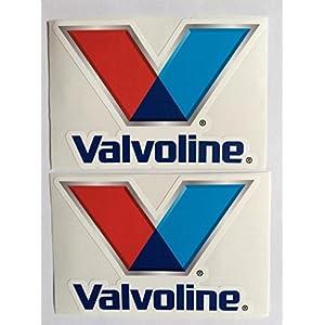 2 Valvoline Motor Oil Die Cut Decals by SBD DECALS