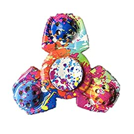 Meishatong Anti-Spinner New Style Fidget Hand Spinner Stress Relief Anxiety Stress Relief Toy (Multi-Colour)