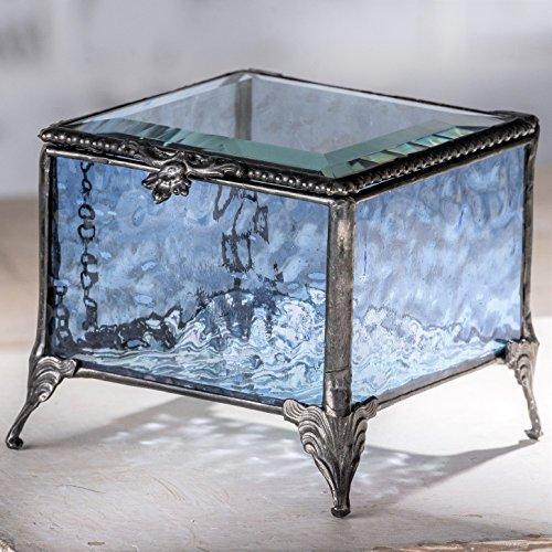 Vintage Glass Trinket Box - 7