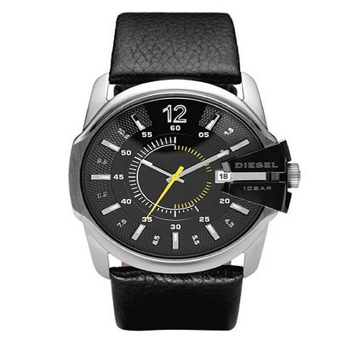 - Diesel Men's DZ1295 Black Not-So-Basic Basic Analog Black Dial Watch