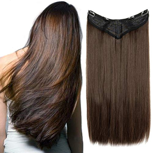 3-5 Days Delivery 7Pcs 16 Clips 24 Inch Wavy Curly Clip in on Double Weft Hair Extensions Hairpieces]()