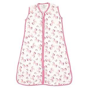 Luvable Friends Unisex Baby Safe Wearable Sleeping Bag/Sack/Blanket, Unicorns Muslin 1-Pack, 12-18 Months