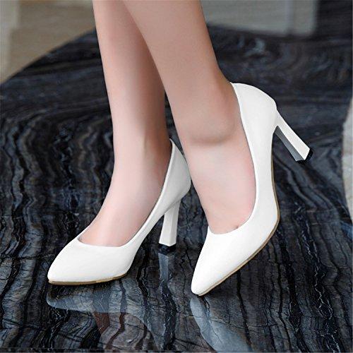 Automne Exing La E Blanc Boucle Confort Aiguilles Pu Talons Chaussures Noir Pour B Abricot Printemps Soirée Robe Femmes Astuce De 8qqBIg