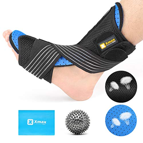- NICEWIN Plantar Fasciitis Night Splint Kit-Ultra-Breathable Sweat-Proof Orthotic Brace Pain Relief from Foot Drop, Tendonitis for Sound Sleep