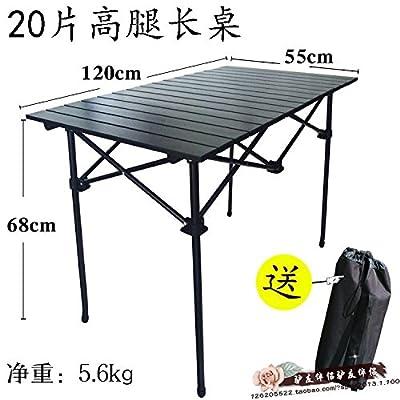 Xing Lin Table Pliable Des Tables De Pique-Nique Rectangulaire Et Chaises Aluminium Pliable Ménagers De Plein Air Camping De Décrochage Simple Portable Table Super 20*55*120 Pièce 68