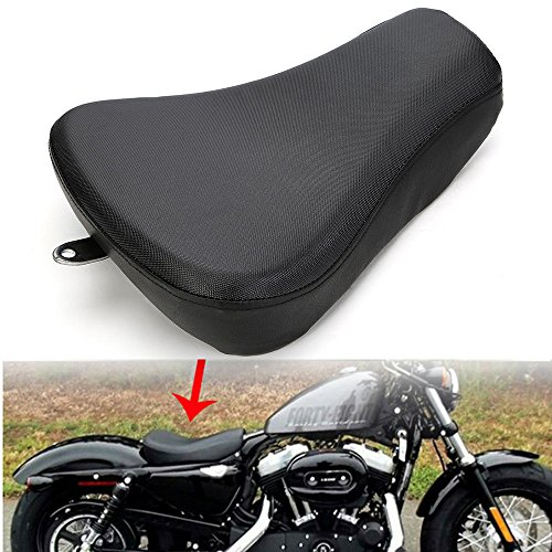 Black Motorcycle Front Driver Solo Seat Pillow For 2010-2018 Harley-Davidson Forty Eight XL1200X 2010-2015 Harley-Davidson Iron 883 2012-2016 Harley-Davidson Seventy Two XL1200V 2010-2015 Harley-David