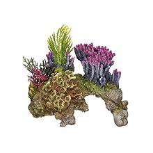 Nobby Coral Piedra con Plantas Acuario Adornos, 15,5 x 9 x 10,5 cm