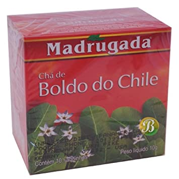 Boldo Leaf Tea - Chá Boldo Do Chile - Madrugada - 10 Bags