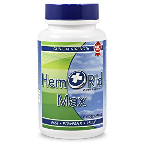 HemRid Max - Fast Hemorrhoid Relief. Perfect to Use with These Types of Hemorrhoid Treatment: Hemorrhoid Wipes, Hemorrhoid Cream, Hemorrhoid Ointment, Hemorrhoid Suppositories and Hemorrhoid Cushion - Hemorrhoid Relief