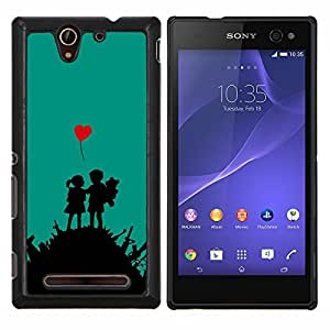 Jordan Colourful Shop - War Love For Sony Xperia C3 D2533 Personalizado negro cubierta de la caja de pl????stico