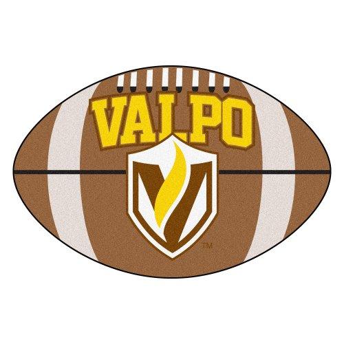 NCAA Valparaiso University Crusaders Football Shaped Mat Area Rug - Crusader Foot