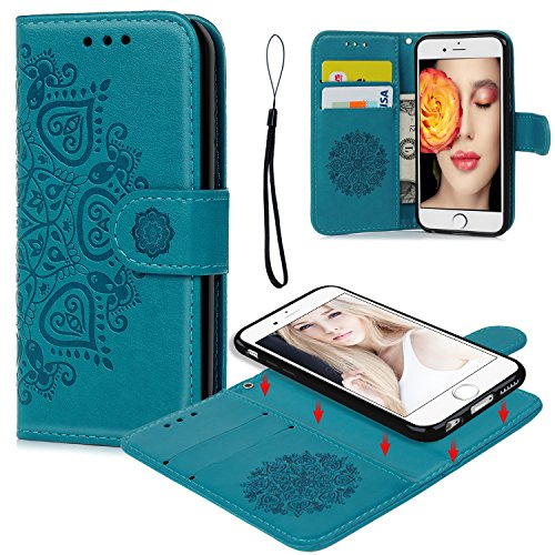 Cheap Wallet Cases iPhone 6 6S Wallet Case, iPhone 6 6S Case PU Leather Embossed..