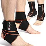 Ankle Support Kit - (2 or 4 Pack)- Ankle Brace Straps...