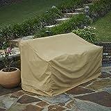 Seasons Sentry CVP01431 Love Seat Bench Cover, Sand