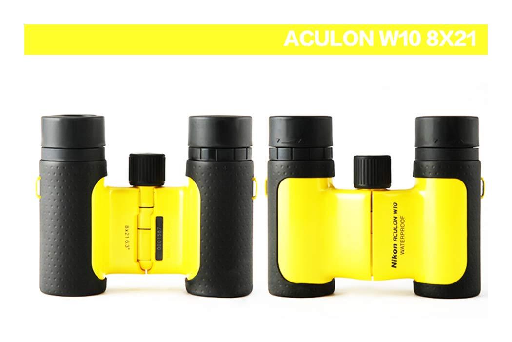Amarillo Binoculares Nikon W10 Negro 215g, 11 cm, 8,7 cm