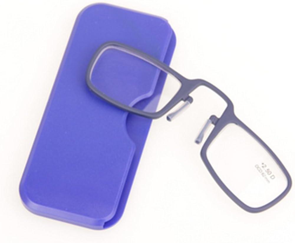 3.0 1.0 2.5 2.0 3.5 Lunettes Presbyt/épiques Portefeuille avec Case Meijunter Lunettes de lecture Mini Nose Clip pour Hommes Femmes 1.5