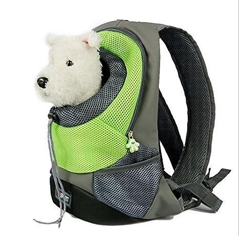 Komener Mochila de Transporte para Gatos o Perros Pequeños, Color Verde: Amazon.es: Hogar