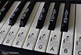 Keyboard or Piano Stickers up to 88 KEY SET for the black and white keys LAMINATED, ULTRA THIN PSBW 88