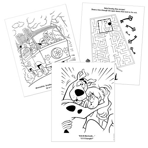 3f840f410 chic Scooby Doo Coloring Book Set with Stickers, Paint with Water Pages,  Temporary Tattoos