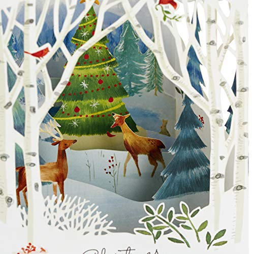 Hallmark Paper Wonder Pop Up Holiday Card (Woodland Animals Pop Up) Photo #8