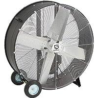 Strongway Open Motor Belt-Drive Drum Fan - 36in., 1/2 HP, 13,300 CFM