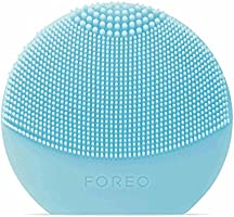 FOREO Luna Play Plus, Portable Facial Cleansing Brush, Replaceable Battery and Waterproof Skin Care Device, Mint, 85g