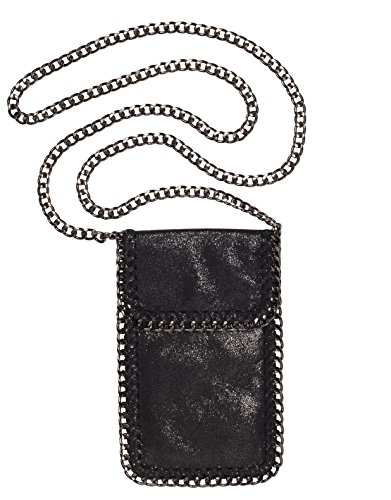 Amy & Aly Cellphone Bag Crossbody Case for Smartphone with Chain Trim & Strap (Stella Track Leather)