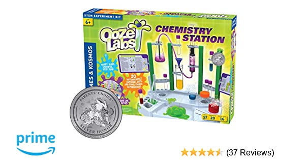 picture regarding Slime Science Printable Report named Thames Kosmos Ooze Labs Chemistry Station Science Experiment Package, 20 Non-Destructive Scientific studies Which includes Safe and sound Slime, Chromatography, Acids, Bases