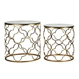 Adeco Metal Nesting [FT0064] Classic, Set of 2,Golden