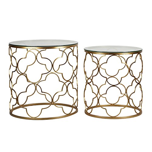 - Adeco Metal Nesting [FT0064] Classic, Set of 2,Golden