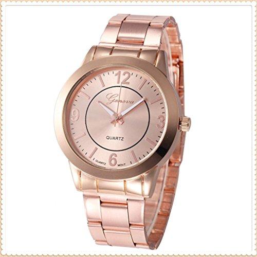 IEason,Stainless Steel Sport Quartz Hour Wrist Analog Watch (Rose Gold)