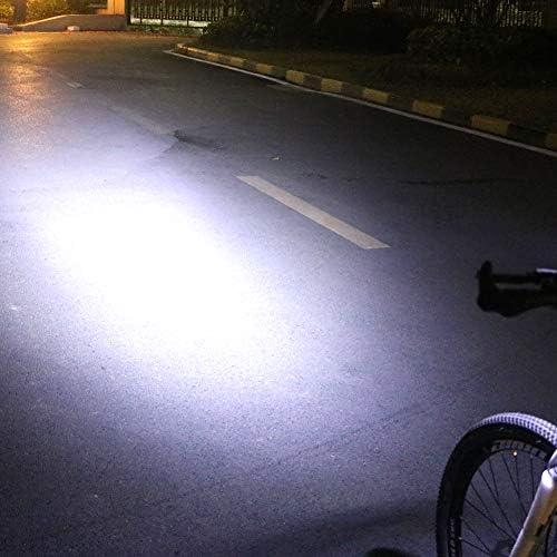 Luz de Bicicleta 20000 Lumen de Inducci/ón Bicicleta Luz Delantera Con Bocina 4000mAh USB Recargable Smart Bicicleta Luz LED de Bicicleta de Ciclismo Linterna