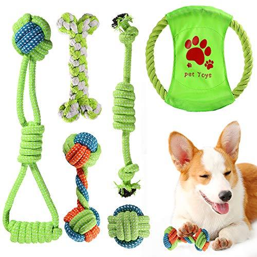 ACE2ACE Kleines Hundespielzeug Set, Welpen Kauspielzeug, Hundeseil, Spielzeug für kleine Hunde und Welpen, 100…