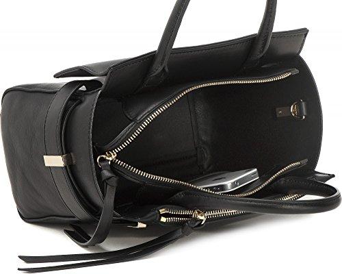 COCCINELLE, Damen Handtaschen, Henkeltaschen, Umhängetaschen, Bowling-Bags, Leder, Schwarz, 30 x 20 x 12 cm (B x H x T)