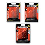 Black & Decker OEM 15557 10 piece drill driver bit set (3 Pack)