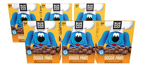 Dog Canned Formula - Blue Dog Bakery Dog Treats | All-Natural | Low-Fat | Peanut Butter & Molasses | 10oz (Pack of 6)